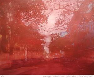 enrico-ingenito-paesaggio-su-fondo-rosso-2011-olio-su-tela-150x140