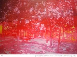 paesaggio-su-fondo-rosso---170-x-120---2010