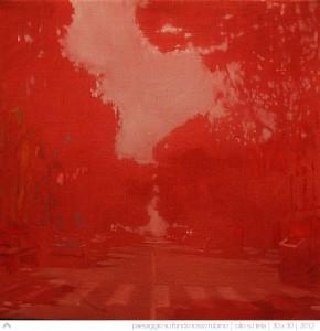 paesaggio-su-fondo-rosso-rubino---30x30---2012