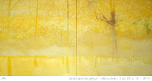 03_landscape-on-yellow---2pz.-100x100---oil-on-canva---2014