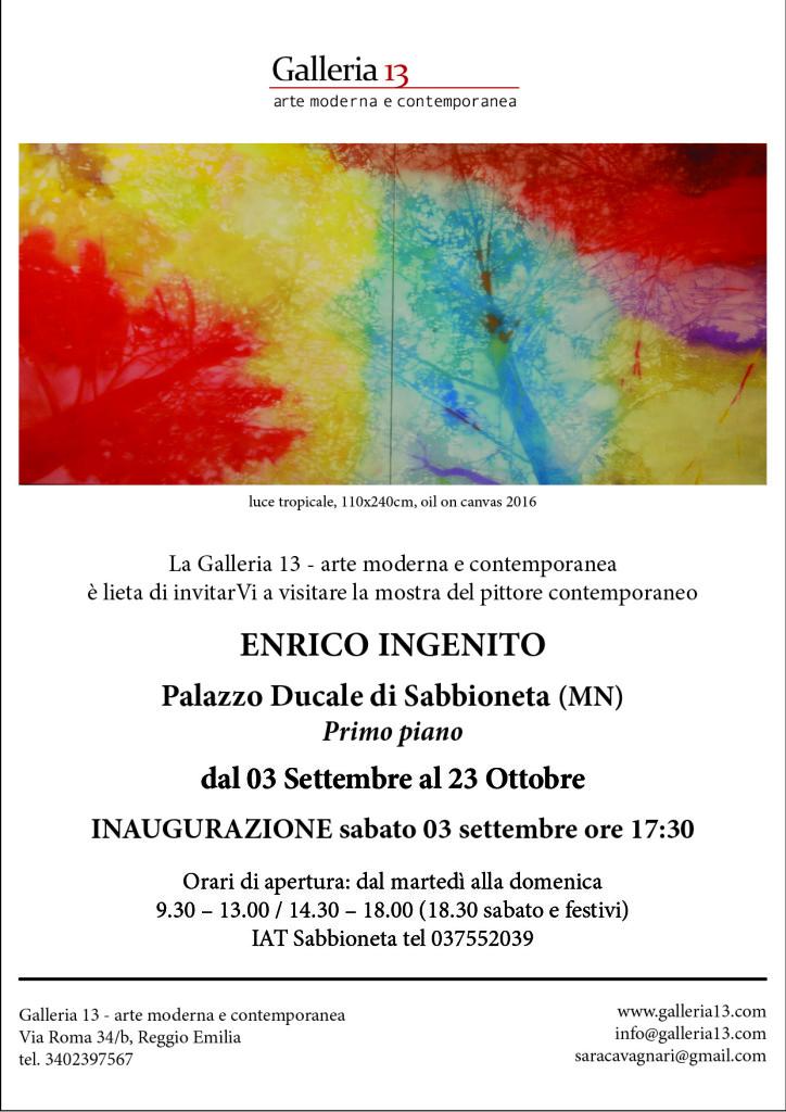 invito Galleria 13 - Mostra Enrico Ingenito